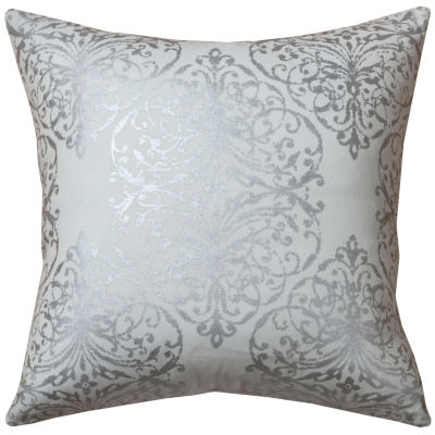 Rizzy Home Austin Damask Scrollwork Decorative Pillow