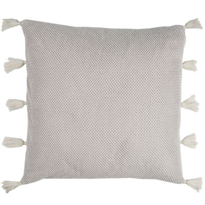 Rizzy Home Luke Mesh Solid Decorative Pillow