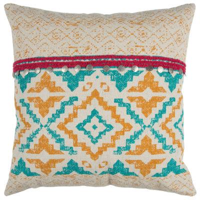 Rizzy Home Mason Geometric Decorative Pillow
