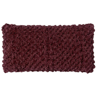 Rizzy Home Aaron Smocked Over All- Textured Decorative Pillow