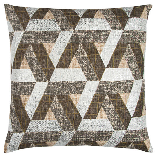 Rizzy Home Lucas Geometric Textured Decorative Pillow