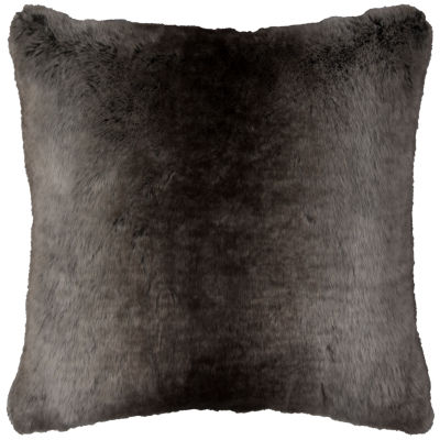 Rizzy Home Thomas Solid Fur Decorative Pillow