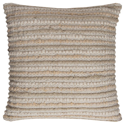 Rizzy Home Angel Stripe Textured Decorative Pillow