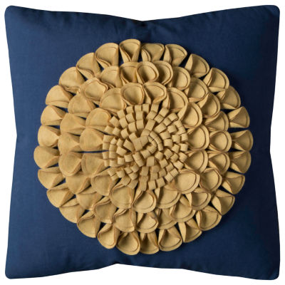 Rizzy Home Jack Floral Motif Decorative Pillow