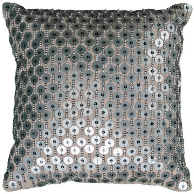 Rizzy Home Julian Hand Beaded All Over DecorativePillow