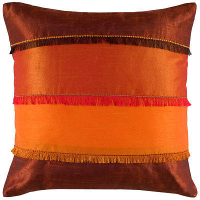 Rizzy Home Carter Stripes Color Blocked Decorative Pillow