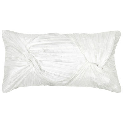 Rizzy Home Alejandro Twisted Rouching Solid Decorative Pillow