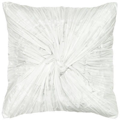 Rizzy Home Carson Twisted Rouching Solid Decorative Pillow