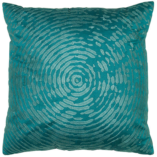 Rizzy Home Sophia Circular Abstract Motif Decorative Pillow