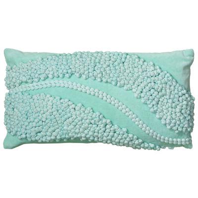 Rizzy Home Rachel Pom Pom Swoop Decorative Pillow
