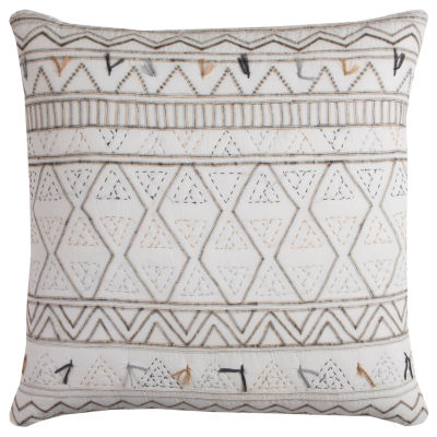 Rizzy Home Tess Tribal Global Traveler Decorative Pillow