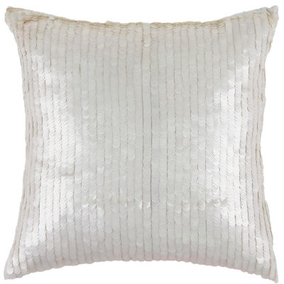 Rizzy Home Diego Sequined Solid Decorative Pillow