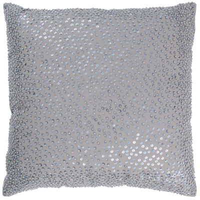 Rizzy Home Steven Solid With Stitchingbeading In The Same Color Decorative Pillow
