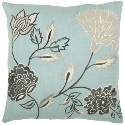 Rizzy Home Devin Floral Decorative Pillow