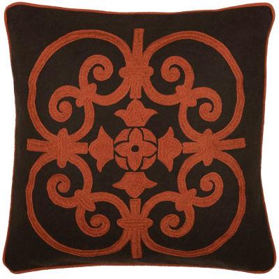 Rizzy Home Seth Medallion Applique Decorative Pillow