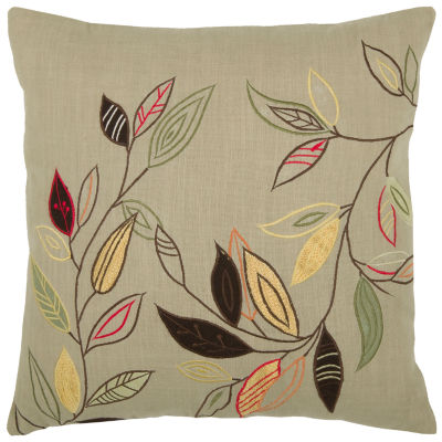 Rizzy Home Hayden Leaves On Stems Decorative Pillow