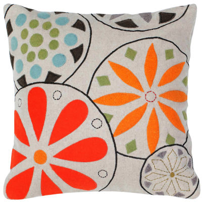 Rizzy Home Dominic Medallion Floral Decorative Pillow