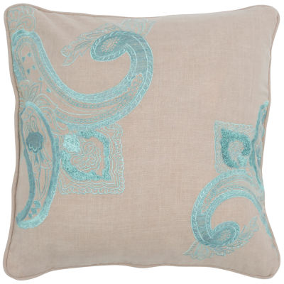 Rizzy Home Brayden Paisley Floral Decorative Pillow