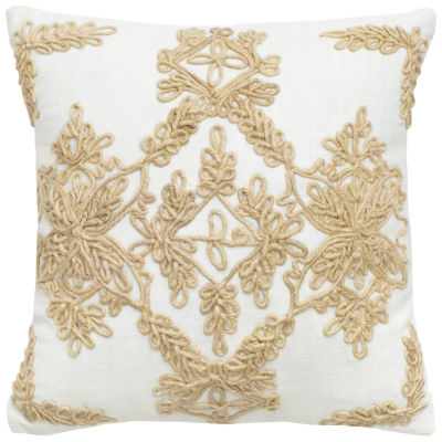 Rizzy Home Isabella Medallion In Jute Cord Decorative Pillow