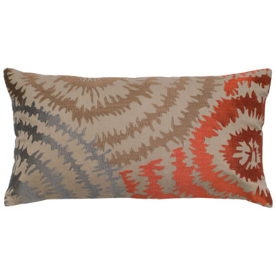 Rizzy Home Hannah Swirls Embroidered Decorative Pillow