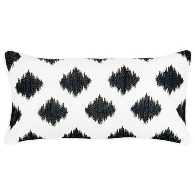 Rizzy Home Ella Fractured Ogee Embroidered Decorative Pillow