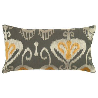 Rizzy Home Taylor Ikat  With Flourishes Decorative Pillow