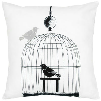 Rizzy Home Anna Birdcage Decorative Pillow