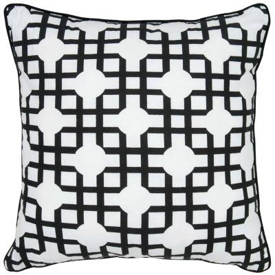 Rizzy Home Lauren Geometric Decorative Pillow