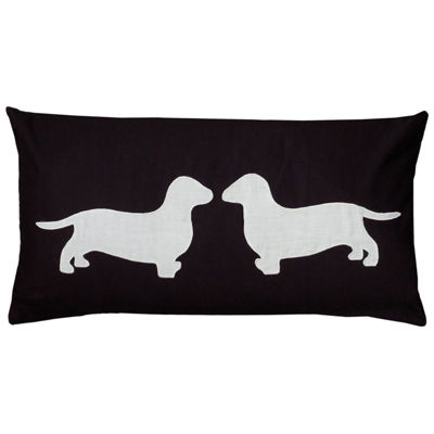 Rizzy Home Kayla Dogs Decorative Pillow