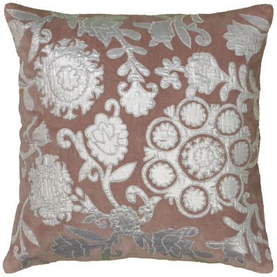Rizzy Home Addison Floral With Medallion Decorative Pillow