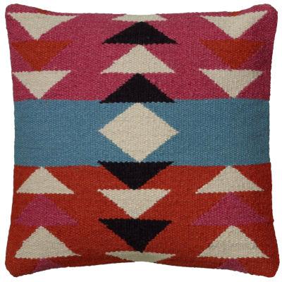 Rizzy Home Savannah Colorful Geometric Southwestern Motifs Decorative Pillow