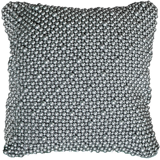 Rizzy Home Nevaeh Hand Beaded All Over DecorativePillow