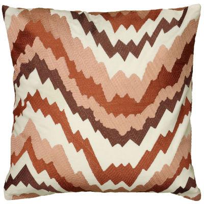 Rizzy Home Aria Fractured Chevron Decorative Pillow