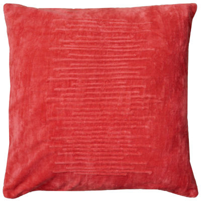 Rizzy Home Maria Horizontal Raised Lines In Center Decorative Pillow