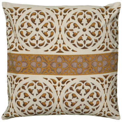Rizzy Home Gabriella Medallion And Central StripeDecorative Pillow