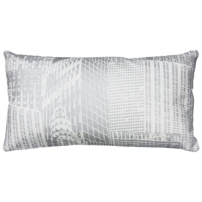 Rizzy Home Gabrielle Cityscape Foil Print Decorative Pillow