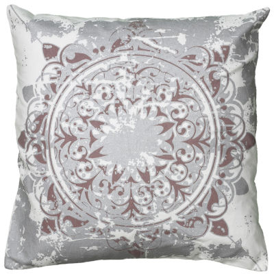 Rizzy Home Trinity Medallion Distressed Decorative Pillow