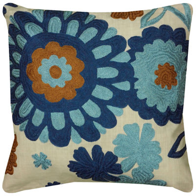 Rizzy Home Evelyn Floral Decorative Pillow