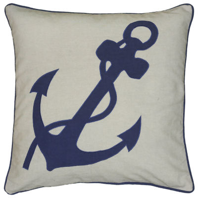 Rizzy Home Caroline Anchor With Rope Decorative Pillow