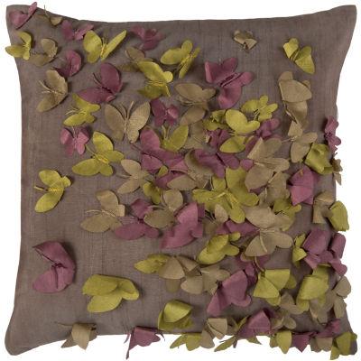 Rizzy Home Mckenna Butterflies Decorative Pillow