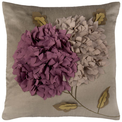 Rizzy Home Nicole Floral Decorative Pillow