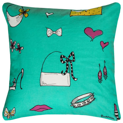 Rizzy Home Camryn Shopper Girl Accessories Decorative Pillow
