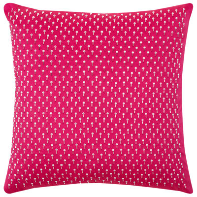 Rizzy Home Destiny Beaded Diamond Shaped All OverPattern Decorative Pillow