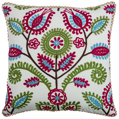 Rizzy Home Alana Floral With Flourishes Decorative Pillow