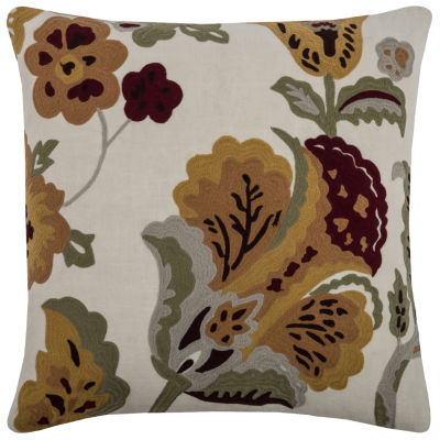 Rizzy Home Lillian Floral Decorative Pillow