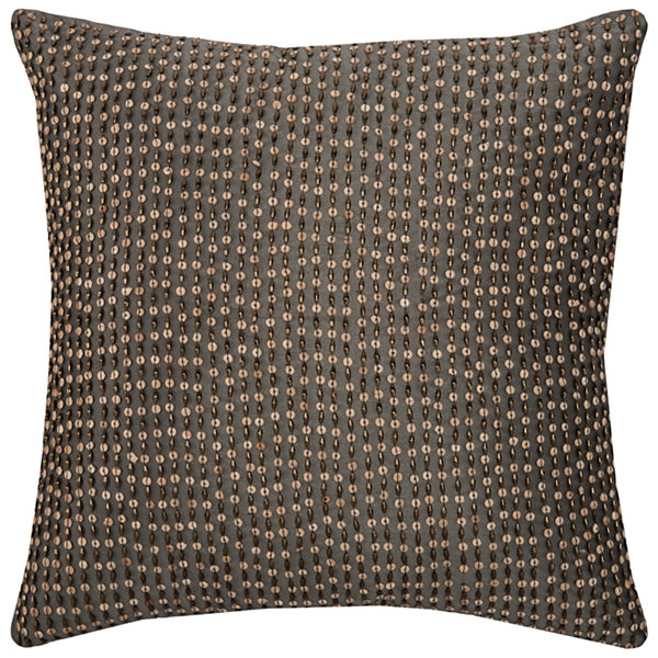 Rizzy Home Jaimie All Over Beaded Shows As Small Stripe Decorative Pillow