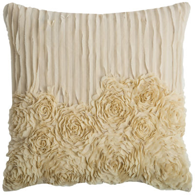 Rizzy Home Will Flowers And Flourish Decorative Pillow