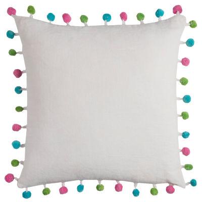 Rizzy Home Rania Poms Decorative Pillow