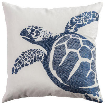 Rizzy Home Evie Turtle Decorative Pillow