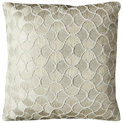 Rizzy Home Mahdi Mermaid Tail In Gold And Silver Decorative Pillow